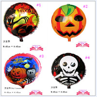 baby skull shape - 2016 new Halloween Gift Pumpkin head Skull foil balloons baby toys shape Party decorations supplies designs DHL