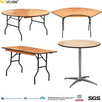 Wholesale folding banquet table event table plywood restaurant table