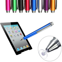 Wholesale New colors cm Fine Point Round Thin Tip Capacitive Stylus Pen Tablet Stylus Pen For iPad air mini