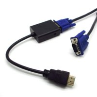 Wholesale HDMI Male to VGA Female Video Converter Adapter With Audio Output for PC DVD HDTV PS3 HD P