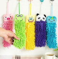 Wholesale Hot Sale Children Hand Towels Superfine Microfiber Towel Hanging Towel Cute Animal Shapes cm cm