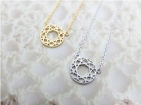 astrology color - 10PCS Fashion Rose gold plating necklace Astrology Compass necklaces for women and mixed color