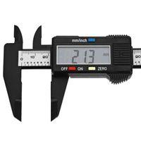 al por mayor pulgadas pie de rey-150mm 6 pulgadas LCD Digital Caliper Fibra de carbono Vernier calibrador micrómetro herramienta de medición para aplicaciones industriales y automotrices