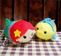 ariel free - TSUM Ariel the Little Mermaid and Flounder Fish mobile screen cleaner keychain bag hanger plush toys gift