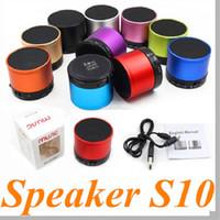 Wholesale S10 Hot Sale S10 Mini Bluetooth Speaker Wireless Metal Portable Handsfree Subwoofer Speakers FM HiFi MIC TF Card Music Players