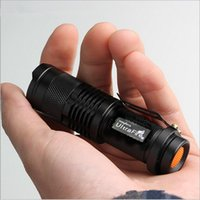 aa cycles - UltraFire mini zoom flashlight SK68 camping cycling fishing outdoor rechargeable led flashlight adjustable torch using or AA battery