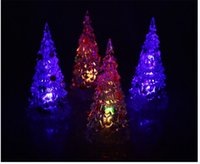Wholesale The Christmas tree Small night lights Christmas gifts glow a variety of graphical optional color can automatically transform