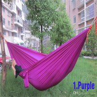 Wholesale hot sale camping Mixed color safe Outdoor Parachute X cm g Double Person Hammock Can Allowable KGS