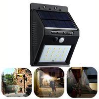 Wholesale Hot New LED Solar Power PIR Motion Sensor Wall Light Outdoor Waterproof Garden Lamp Garden Security Lamp