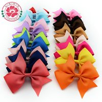 banded v belts - DHL Hair Bows Hair Pin for Kids Girls V shaped bow belt clip Children s hair bands ribbon bow fishtail headband Colors