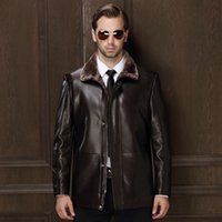 Wholesale Haining fur leather jacket in the men s long winter men s casual middle aged size fur leather jacket M XL