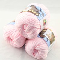 Wholesale Sale of BallsX50g Special Thick Worsted Cotton Knitting Yarn baby pink