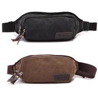 Wholesale Men s Canvas Shoulder Hiking Waist Travel Belt Purse Hip Pack Bike Bag Wallet