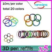 Wholesale 5pcs D Pen PLA Filament Refills mm Different Colors x Linear Feet Value Pack ft for Art Design and Industrial YX CL