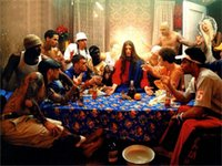 art alternatives canvas - 24X36 INCH ART SILK POSTER alternative art the last supper Home Decoration Canvas Poster