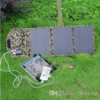 Wholesale 19 W V Foldable Solar Panel Charger With Dual USB Output Solar Battery Charger for iPad iPod Digital Camera iPhone