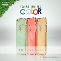 green jade - New Arrival mobile shell jade feeling high quality simple elegant phone back case for Iphone s s plus
