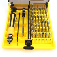 Wholesale 45 in Repair Opening Tool Kit Portable Precision Screwdrivers Disassembly Set Tweezers Extension Shaft Interchangeable Hardware Tools