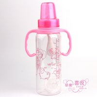 Wholesale 2016 ml New Direct Selling Glass baby Feeding Bottles Standard Caliber PP Material Safety Baby Cup with Cover Kids mamadeira