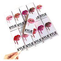 Wholesale 2016 color KYLIE JENNER LIP KIT liner Kylie Lipliner pencil Velvetine Liquid Matte Lipstick in Red Velvet Makeup Lip Gloss Make Up c