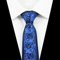 ascot tie for sale - New Design Slim Tie For Men cm Skinny Narrow Necktie Mens Blue Positioning Ties Suit for Social Party Wedding Factory Sale