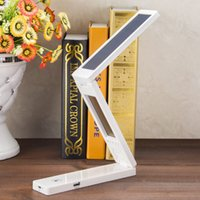 Wholesale Solar Powered LED Lamps LED Portable Folding Lamp USB Battery Desk Table Home Study Reading Fold Light