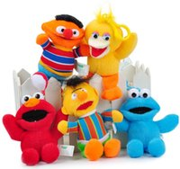 baby sesame street - Hot and fashion sesame street cartoon stuffed pendant toys for baby children with plastic hanger very cute