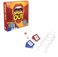 Wholesale 2016 Hot selling Funny games Interesting Speak Out Game KTV party game mouthpiece with paper cards for party Christmas gift