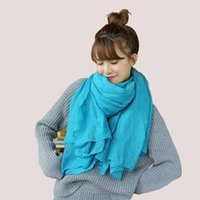 bargain rings - 2016 new Women fashion Scarf Hot Sell simple plain scarf soft rectangular Shawl Polyester Scarves multicolor bargain price pashmina