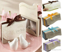 Wholesale 2016 Hot Sales Fashion wedding favors From the sale of Love Birds Salt and Pepper Shaker Party favors Fast shipping