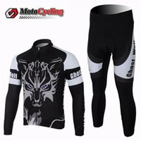 air road direct - Ghost Wolf Cycling Jersey Winter Thermal Fleece Red Black Reduce the Air Resistance Road Cycling Jersey Factory Price Direct Sale