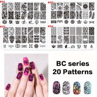 art bc - 12X6CM BC Series Designs Pattern New Design DIY Nail Art Image Stamp Lace Stamping Plates Manicure Template Tool