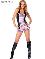 Wholesale Halloween Sexy Club Dress sexy School girl costume Uniform Fancy Party Dress
