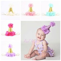 accessories for birthday - baby flower crown headbands for girls gold crown hairband kids diy hair accessories birthday princess Headbands newborn photography props