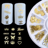 Wholesale New Arrival Explosion Models Manicure Computer Decorative Golden Patch Turntable Women Nail Art Decorations