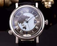 bg watch - New BG HORA MUNDI automatic watch mm LUXURY men s wristwatch genuine leather strap TIME ZONE GMT business watches PT AS ZU