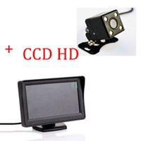 auto security monitor - Auto Parking Assist System in LED Car Rear View Camera With Monitor Night Vision Car Parking Camera With Monitor For Security