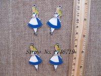 alice in wonderland charms - Popular Cartoon Alice in Wonderland Princess DIY Metal pendants Charms Jewelry Making Gifts p100