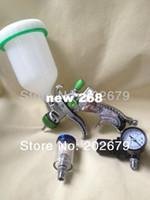 Wholesale 601 high quality spray gun kit gravity stainless steel ml cup lvlp spray gun mini regulator air filter