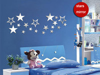 art explosion - Art explosion models mirror DIY wall stickers children shining star pattern paper new European and American fashion