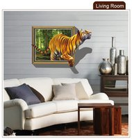 bedroom window pictures - Animal Tiger Wall Picture D Window View Removable Vinyl Sticker Art Home Decor Mural