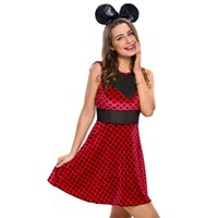 Wholesale New Fashion Holloween Women Red Princess Costume Mistress Mouse Costume For Holloween Party Custom Made