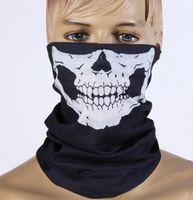 Wholesale 300pcs Fashion Dust Mask Skeleton Ghost Skull Pattern Face Mask Biker Of Duty Cos Costume Game Black