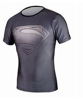america dying - Sell high quality compressed T shirt superman shi died hulk T shirt man captain America fitness jacket shirt t shirts