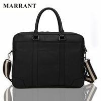 Wholesale MARRANT Genuine leather men s Business briefcase Vintage and fashion shoulder bag designer handbags high quality laptop bag