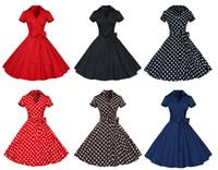 big bow belt - Cheap Prom Dress V neck Short Sleeves Retro Vintage s s Short Party Dress Big Plus Size Cocktail Dress with Belt estidos De Noche