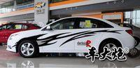 Wholesale Apply to jiangsu mitsubishi V3 ling yue lancer wing god cruze whole vehicle vehicle sticker body garland b2067