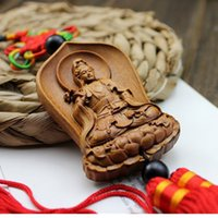 Wholesale 1 Piece Chinese Knot Wood Craft car pendant promotion gift Luck Craft Key Holder Home Decorate Hot Sale AHJ010