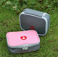 Wholesale Outdoor Sports portable Travel Camping Home Medical Emergency Survival first aid kit Bag SOS box LJJH1384
