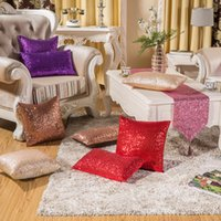 Wholesale Europe And America Classical Home Sofa Waist Decor Cushion Cover Sequins Throw Pillow Case cm Square Pillow Covers